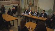 Il presidente Giuggioli, il sindaco Pisapia e l